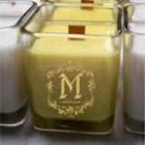 Натурална ароматна  свещ с дървен фитил - Роза Дамасцена
